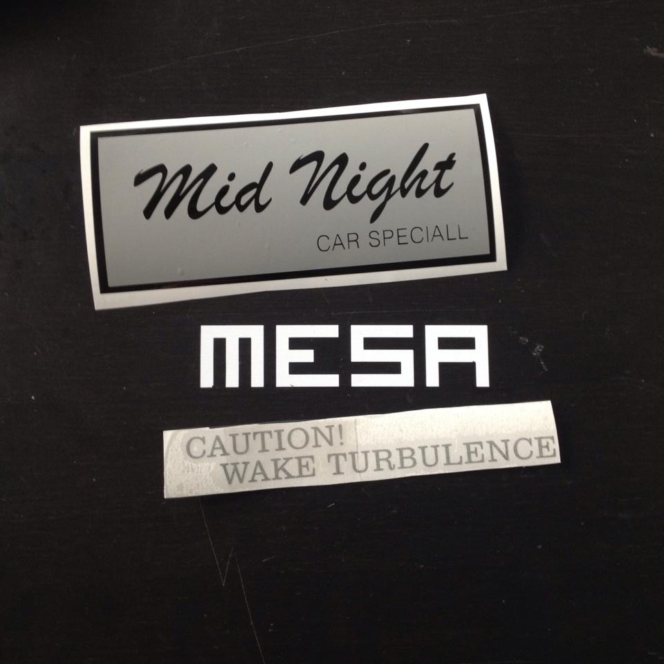 240z Mid Night Club Reproduction Bumper Decal